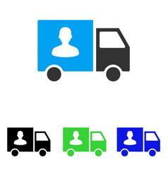 Passenger transport van flat icon vector