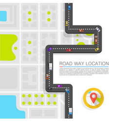 Paved path on road art vector
