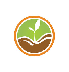 Plant green ecology logo vector