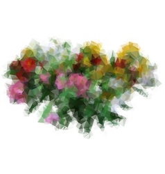 polygon a bouquet of flowers vector image