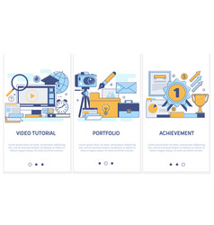 Professional training education portfolio vector