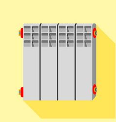 Radiator icon flat style vector