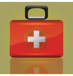 red aid case vector image