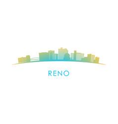 reno skyline silhouette design colorful vector image