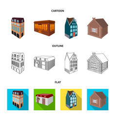 residential house in english style a cottage with vector image