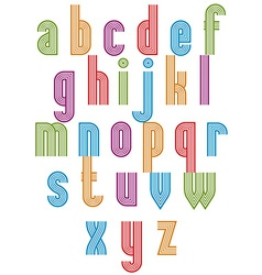 Retro style stripe trendy font vector image