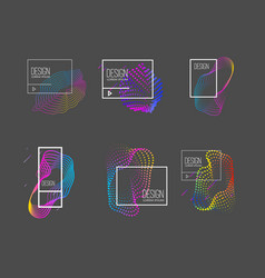 set modern abstract liquid banners design vector image