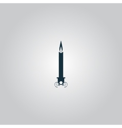 Silhouette candle icon vector image