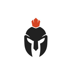 spartan logo and design helmet and head vector image