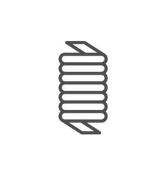 spring line icon vector image