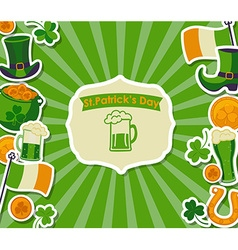 St Patricks card vector image