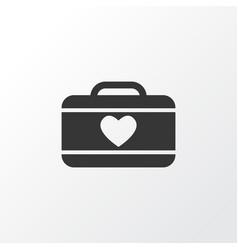 suitcase female icon symbol premium quality vector image