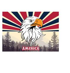 usa flag icon flag with eagle vector image