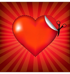 Valentines Day Card With Rays vector image