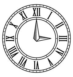 Vintage antique clock face vector