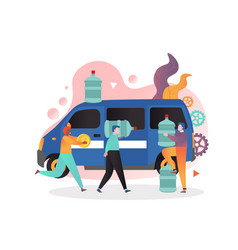 water delivery service concept for web vector image