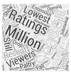 Why American Idols Ratings are Plunging Word Cloud vector image