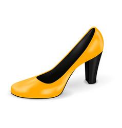 yellow high heel woman shoe vector image