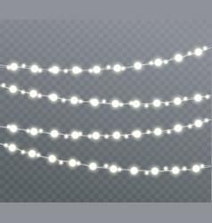 christmas glowing lights vector image vector image