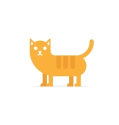cute happy red cat vector image