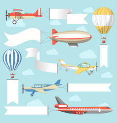 flying air advertising media vehicles and vector image