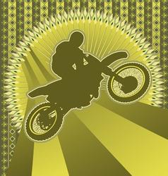 motorcyclist vintage design vector image vector image