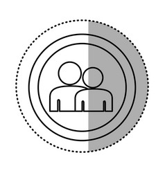 round symbol people together contact icon vector image