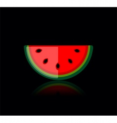 slice of water melon vector image