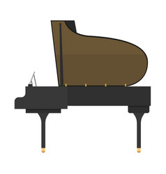 black grand piano isolated vector image vector image