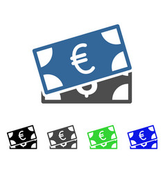 currency banknotes flat icon vector image vector image