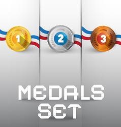 Medals Set vector image