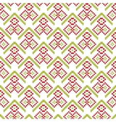 Merry christmas seamless pattern pixel vector