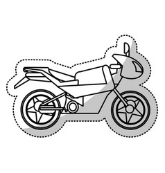 motorcycle transport extrem cut line vector image