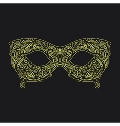patterned masquerade Mask vector image vector image