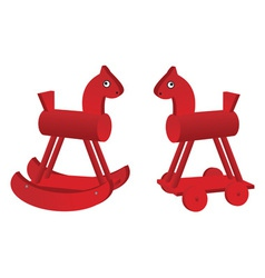 red toy horses vector image vector image
