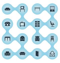 Set of simple furnishings vector