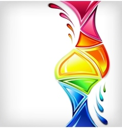 Splash in various colours vector image vector image