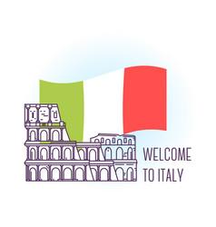 Coliseum rome landmark symbol of italy vector