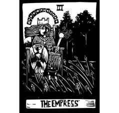 Empress Tarot Card vector image