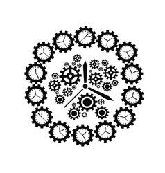 gear clock vector image vector image