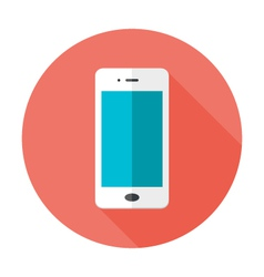 Mobile Flat Circle Icon vector image vector image