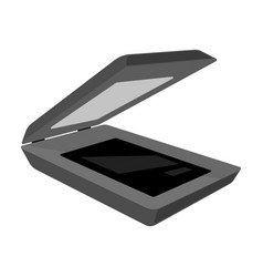 scanner icon in monochrome style isolated on white vector image