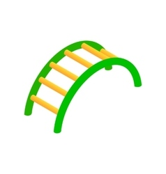 Climbing stairs isometric 3d icon vector image vector image