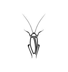 cockroach black color icon vector image