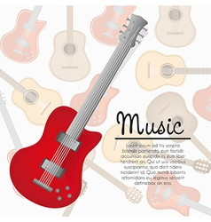 Electric guitar background of pattern of guitars vector