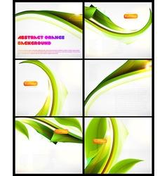 Green Backdrop Set vector image vector image