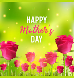 happy mothers day festive card vector image