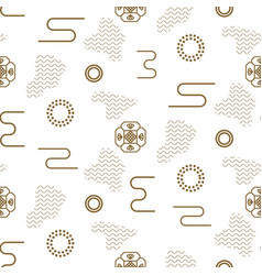 japanese seamless nature pattern in gold vector image vector image