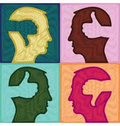 Thumb Head Silhouette vector image