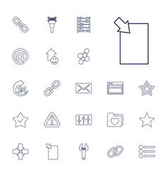 22 interface icons vector